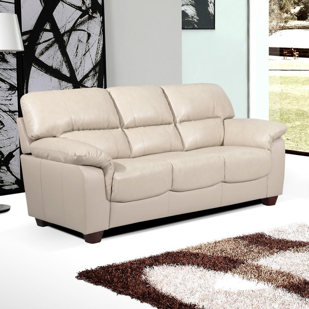 Essington High Back Sofa Collection In Ivory Cream Leather Throughout Ivory Leather Sofas (View 2 of 20)