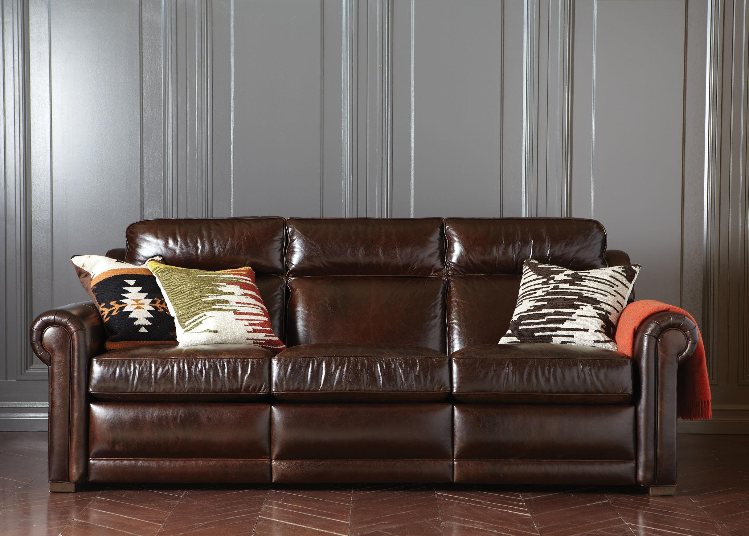 Ethan Allen Leather Sofa 51 With Ethan Allen Leather Sofa Pertaining To 68 Inch Sofas (View 17 of 20)