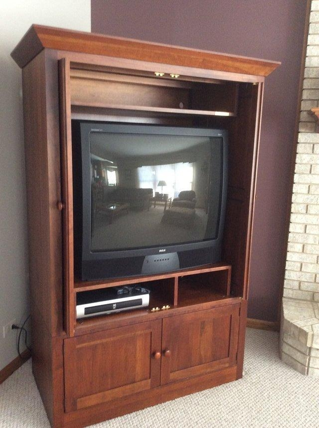 Ethan Allen Tv Armoire Cherry Wood Stain | Furniture: Home – Inside Newest Cherry Tv Armoire (View 11 of 20)