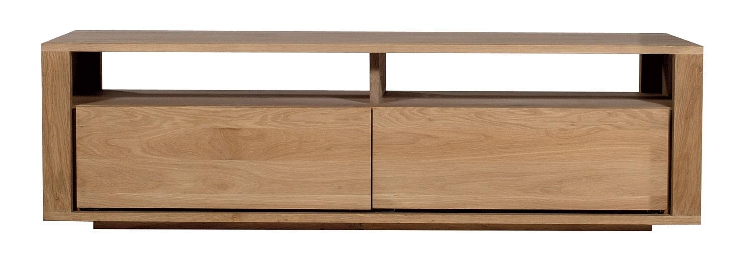 Ethnicraft Shadow Oak Tv Unit | Solid Wood Furniture Pertaining To Most Current Small Oak Tv Cabinets (Image 10 of 20)
