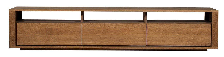 Ethnicraft Shadow Oak Tv Unit   Solid Wood Furniture Regarding Most Recent Oak Tv Cabinets With Doors (Image 9 of 20)