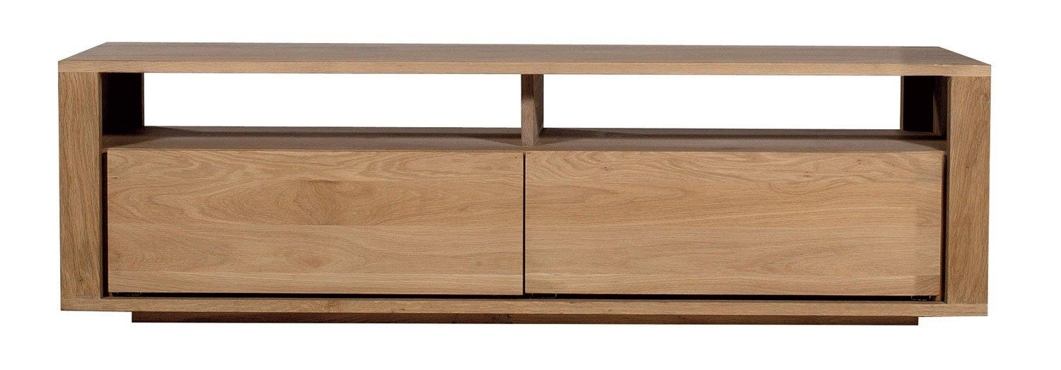 Ethnicraft Shadow Oak Tv Unit | Solid Wood Furniture Throughout Most Recent Contemporary Oak Tv Cabinets (Image 11 of 20)