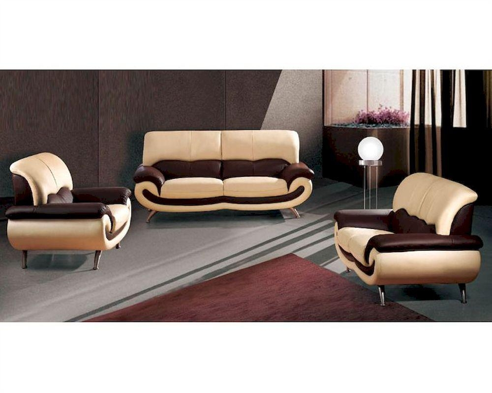 European Furniture Modern Two Tone Sofa Set 33Ss11 Inside European Leather Sofas (View 14 of 21)