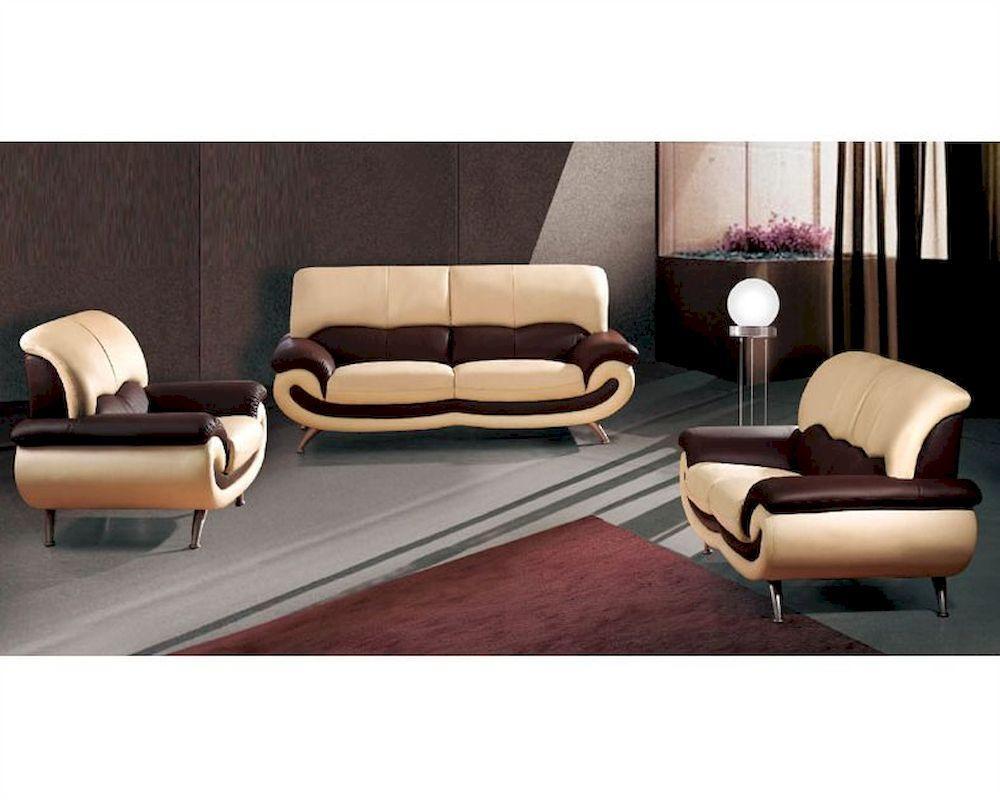 European Furniture Modern Two Tone Sofa Set 33Ss11 Inside European Leather Sofas (Image 5 of 21)