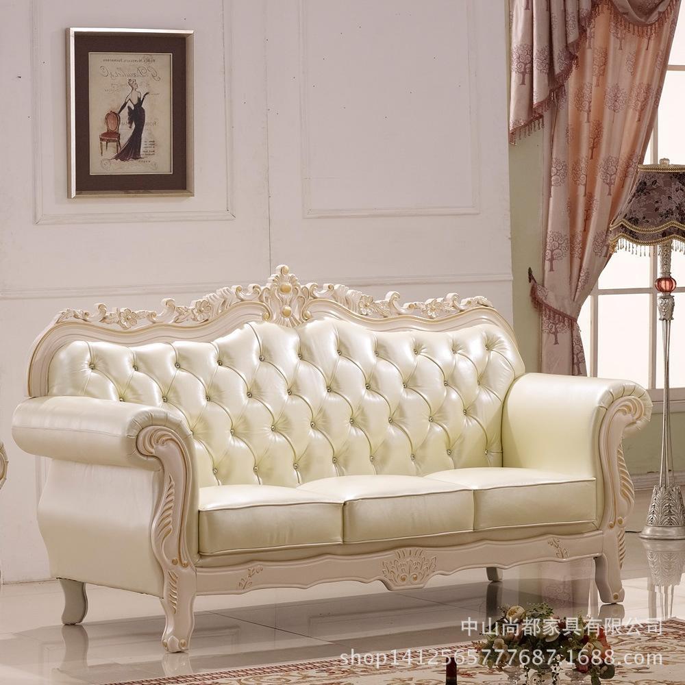 European Leather Sofa Living Room Sofa Combination Of New Retro Regarding European Leather Sofas (Image 7 of 21)