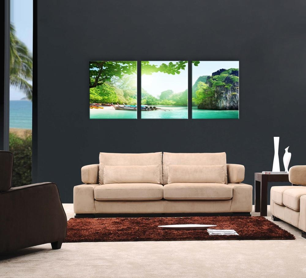 Exotic Harbor 3 Piece Printed Artwork Intended For Three Piece Canvas Wall Art (Image 11 of 20)