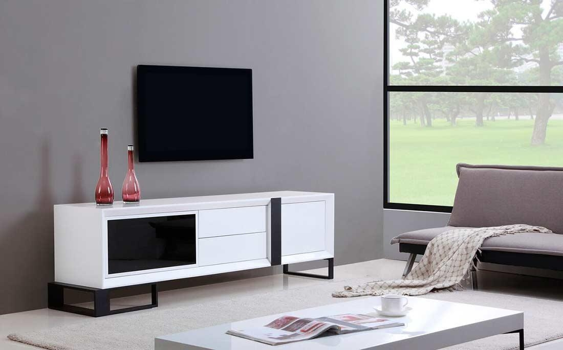 Extra Long Modern White Tv Stand Bm 36 | Tv Stands In Recent Extra Long Tv Stands (View 11 of 20)