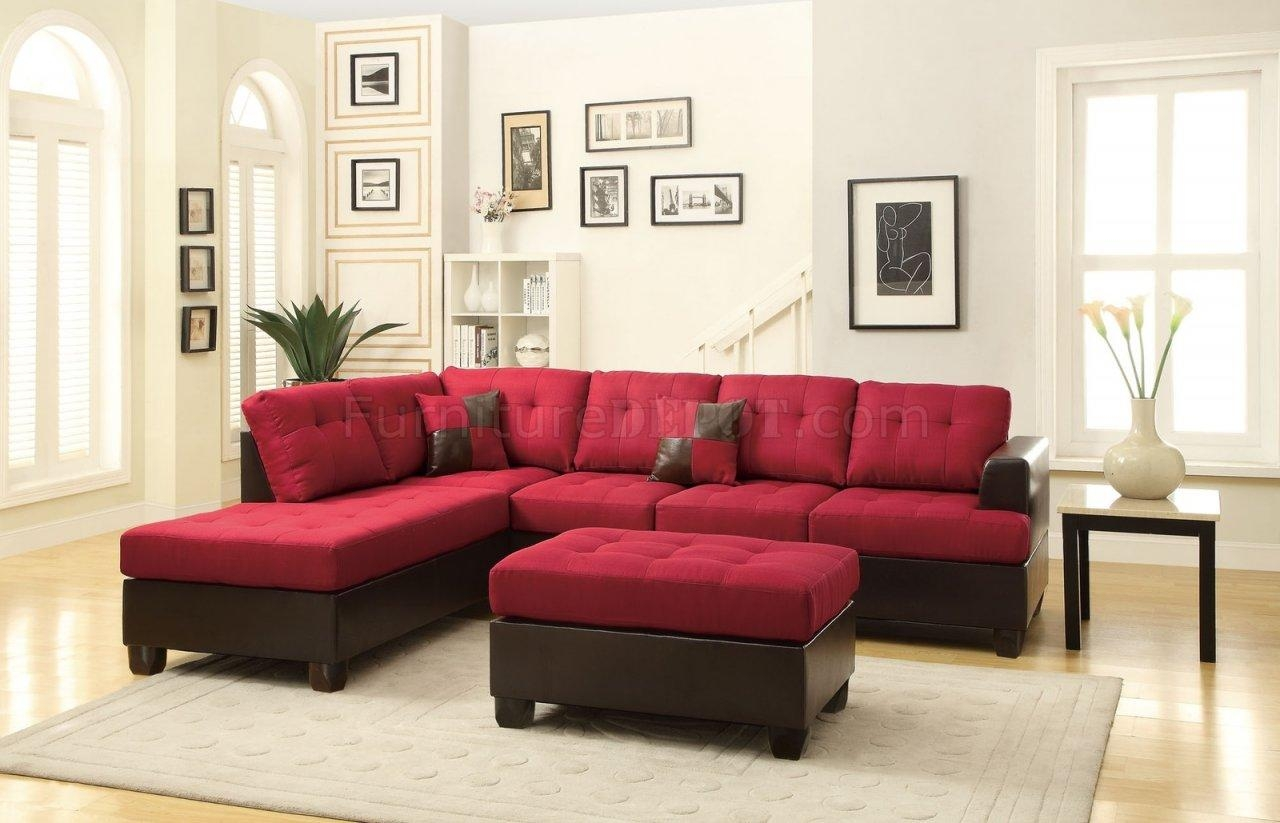 Fabric Sectionals – Microfiber Sectional Sofas, Microsuede Regarding Red Microfiber Sectional Sofas (Image 2 of 21)