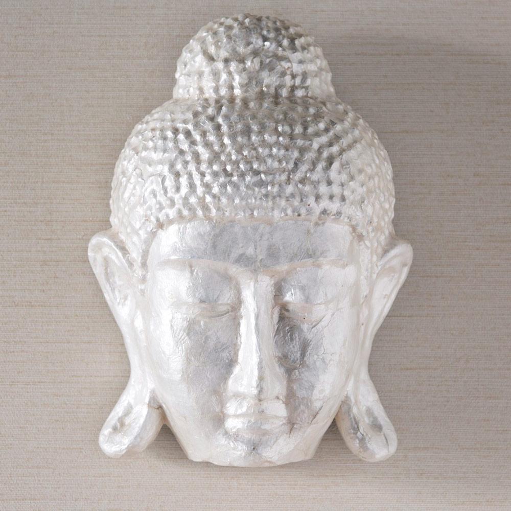 Face Of Buddha Capiz Wall Art | Vivaterra Throughout Capiz Wall Art (View 12 of 20)