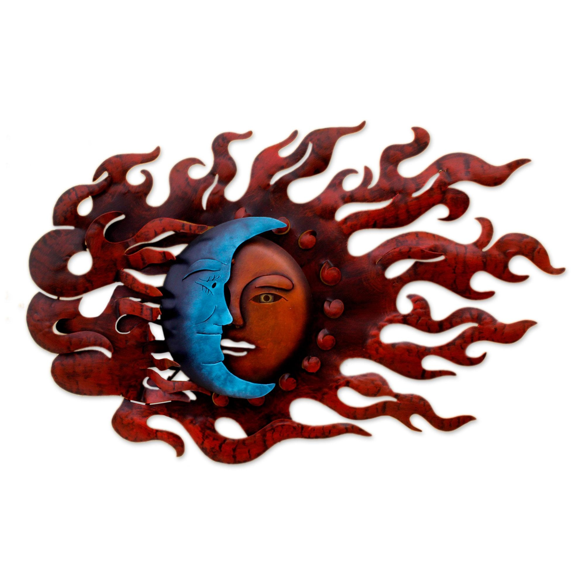 Fair Trade Sun And Moon Steel Wall Art – High Wind Eclipse | Novica Pertaining To Sun And Moon Metal Wall Art (Image 11 of 20)