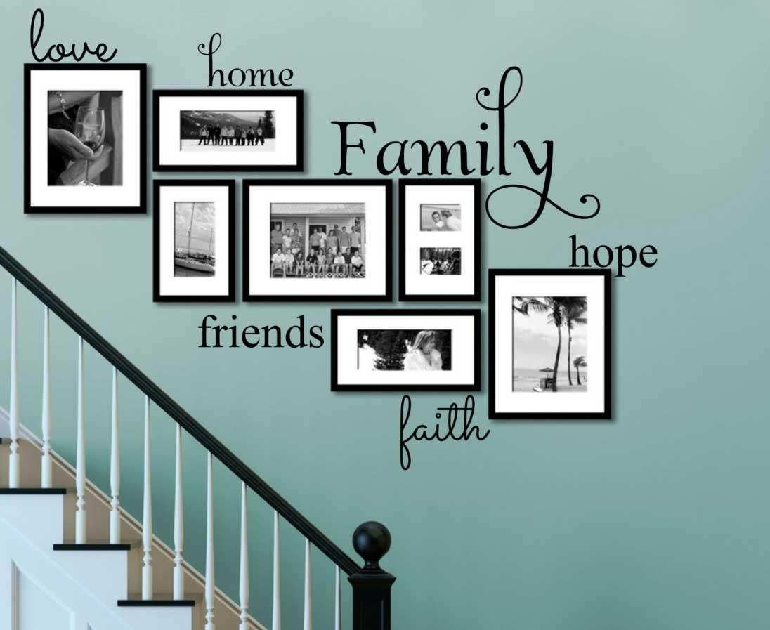 Faith Family Friends Wall Art On Turquoise Wall Ideas | Home With Faith Family Friends Wall Art (Image 6 of 20)