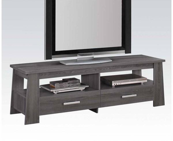 Falan Dark Gray Wood Plastic Rectangular Tv Stand | Entertainment For Most Up To Date Rectangular Tv Stands (View 14 of 20)