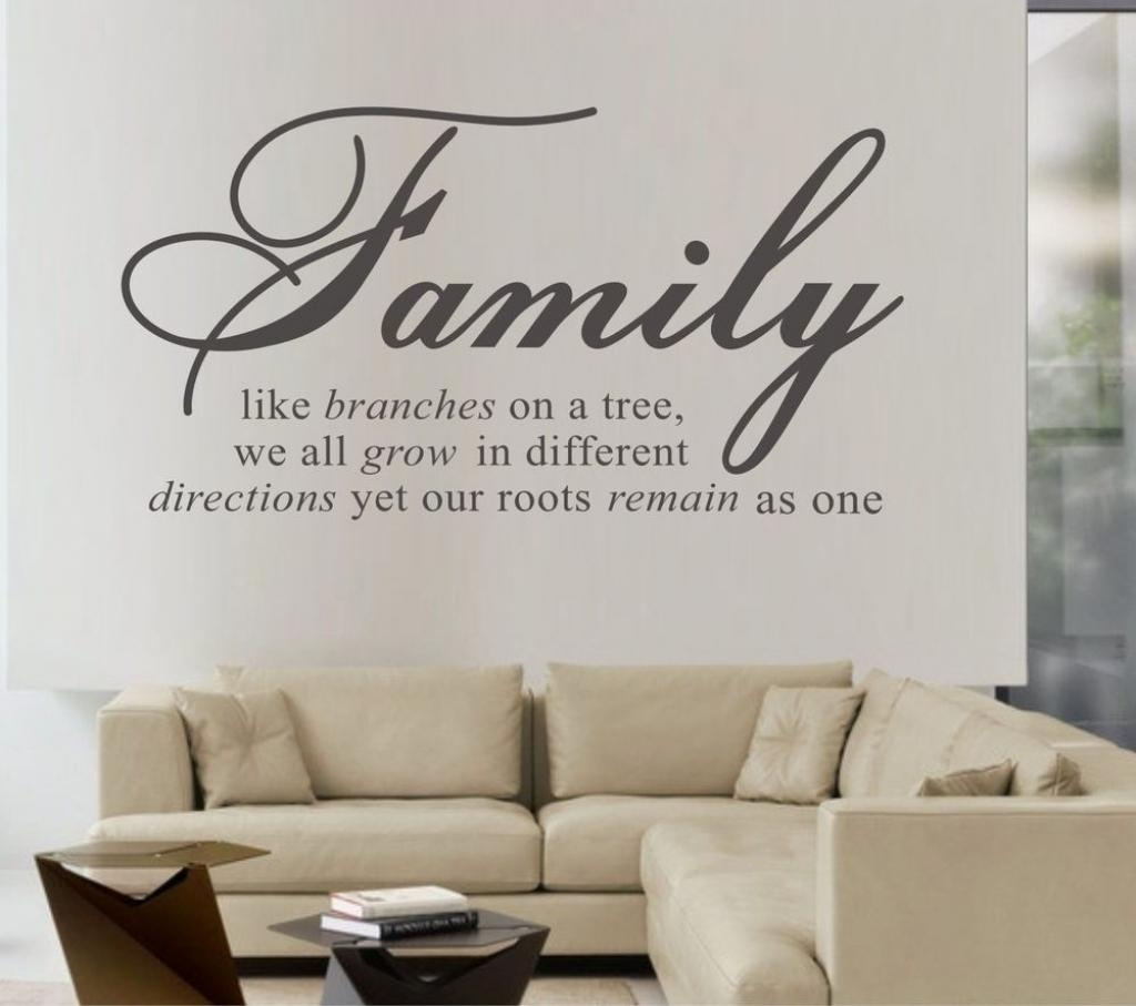 Family Quote Wall Art Our Family Quotes Wall Sticker Sayings With Regard To Family Sayings Wall Art (Image 4 of 20)