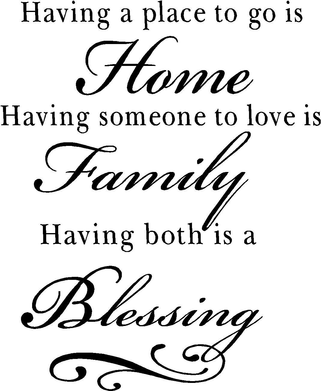 Family Quotes | Vinyl Wall Decals | Blessing Quotes For Home In Family Sayings Wall Art (Image 5 of 20)