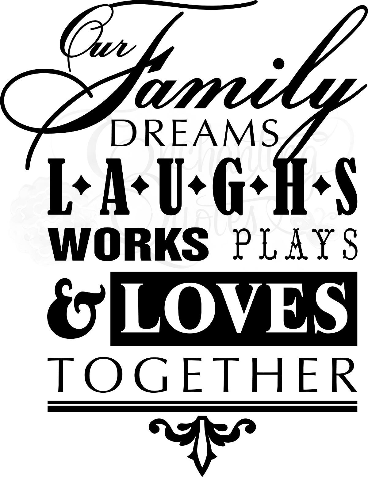 Family Quotes | Vinyl Wall Quotes – Our Family Dreams With Family Sayings Wall Art (View 16 of 20)