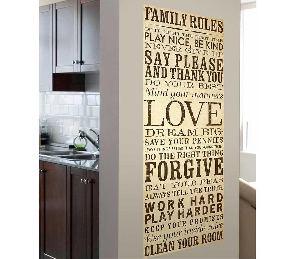 Family Rules Canvas Wall Art Ideas | Home Interior & Exterior Within Family Rules Canvas Wall Art (View 12 of 20)