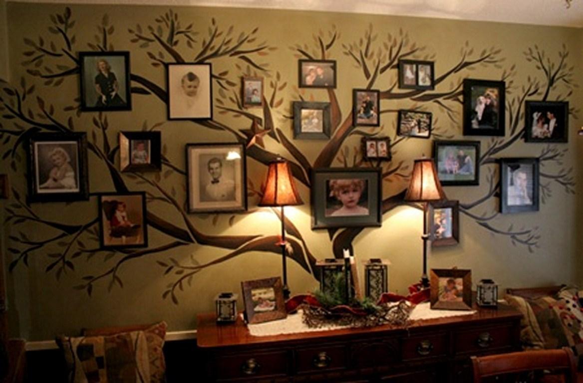 Family Tree Wall Art Ideas | Diy Cozy Home Regarding Live Oak Tree Wall Art (Image 10 of 20)