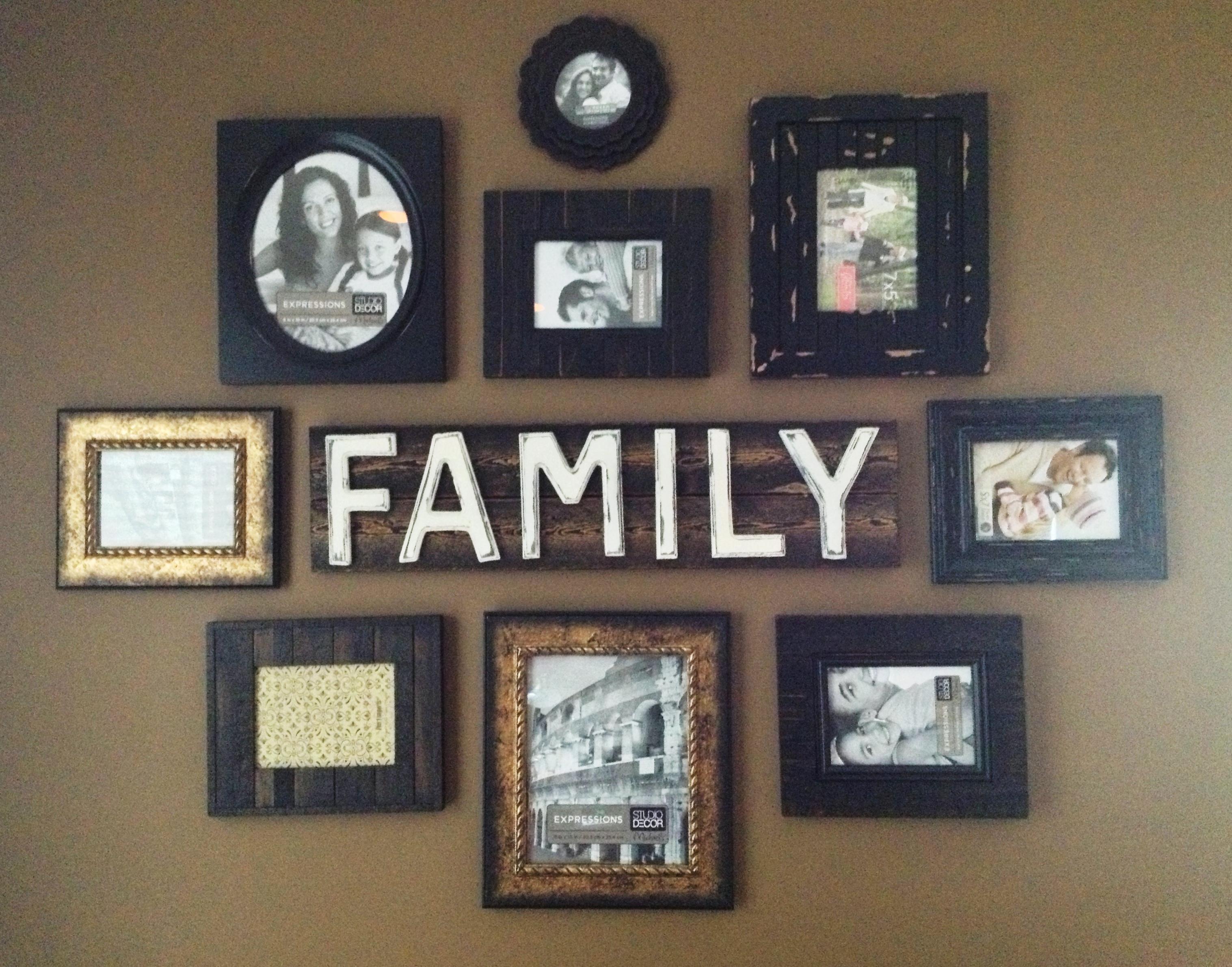 Family Wall Art Picture Frames | Wallartideas Intended For Family Wall Art Picture Frames (View 3 of 20)
