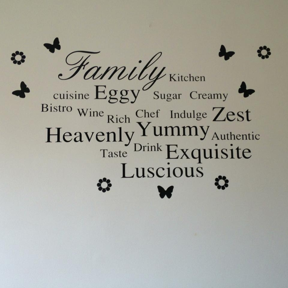 Family & Words Kitchen Wall Art Regarding Wall Art For The Kitchen (Image 4 of 20)