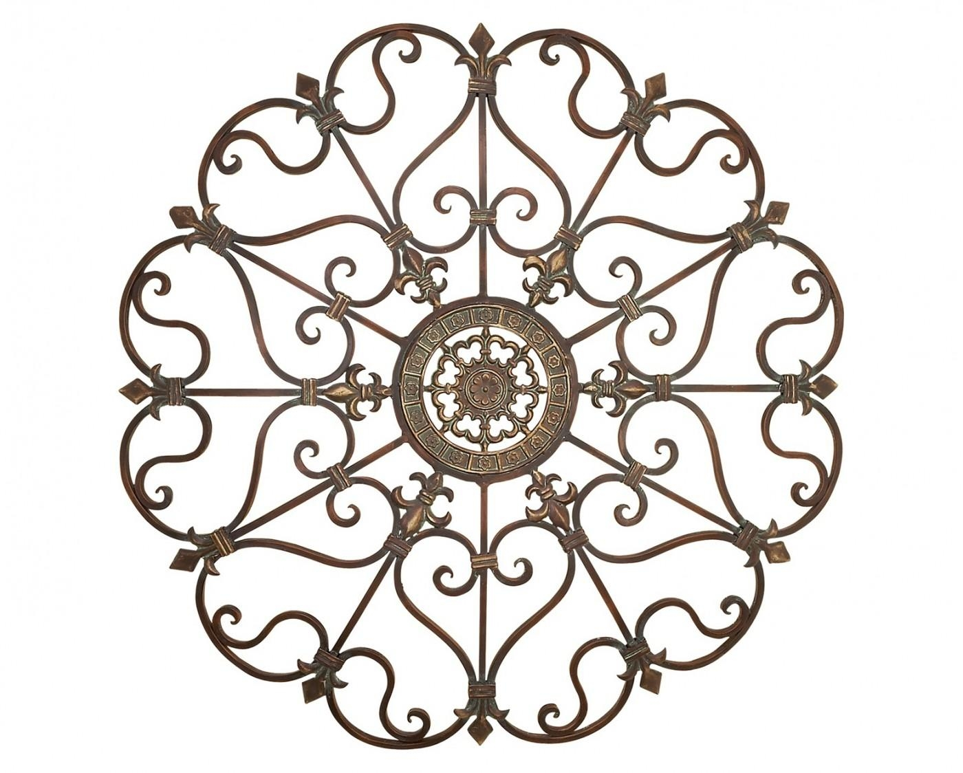 Fanciful Metal Wall Art Medallion Wrought Iron Home Decor Accent With Regard To Iron Scroll Wall Art (View 20 of 20)