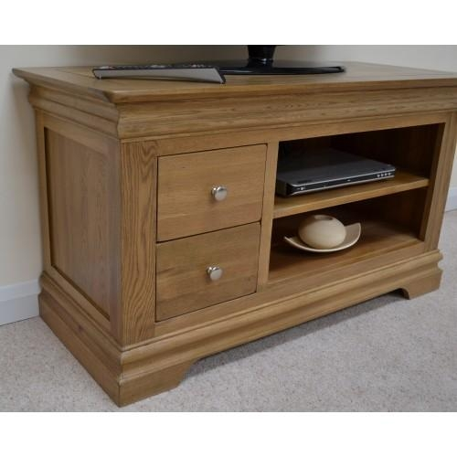 Farmhouse Oak Tv Cabinet / Entertainment Unit Pertaining To Most Up To Date Oak Tv Cabinets (View 12 of 20)
