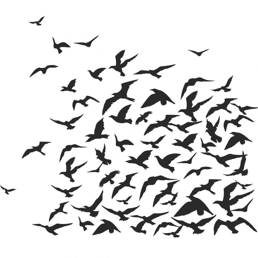 Fascinating Flying Birds Wall Art Metal Bird Sticker Wall Art Throughout Metal Wall Art Birds In Flight (View 19 of 20)