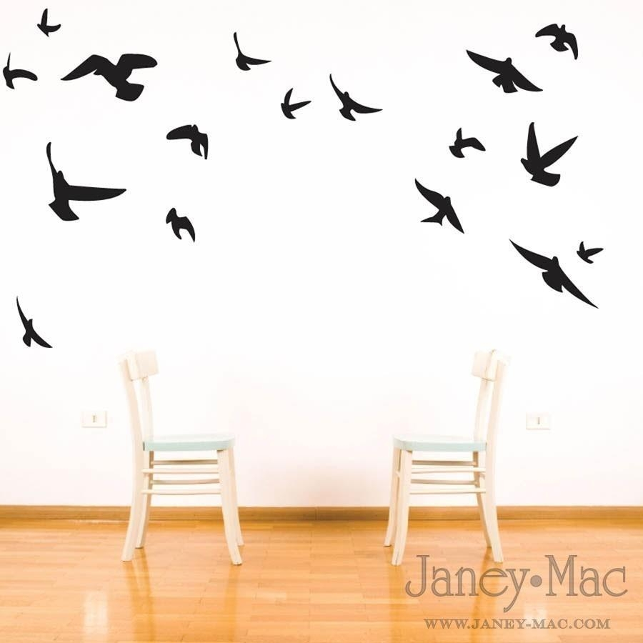 Fascinating Wall Design Birds On A Wire Metal Wall Art Flying Inside Birds On A Wire Wall Art (Image 14 of 20)