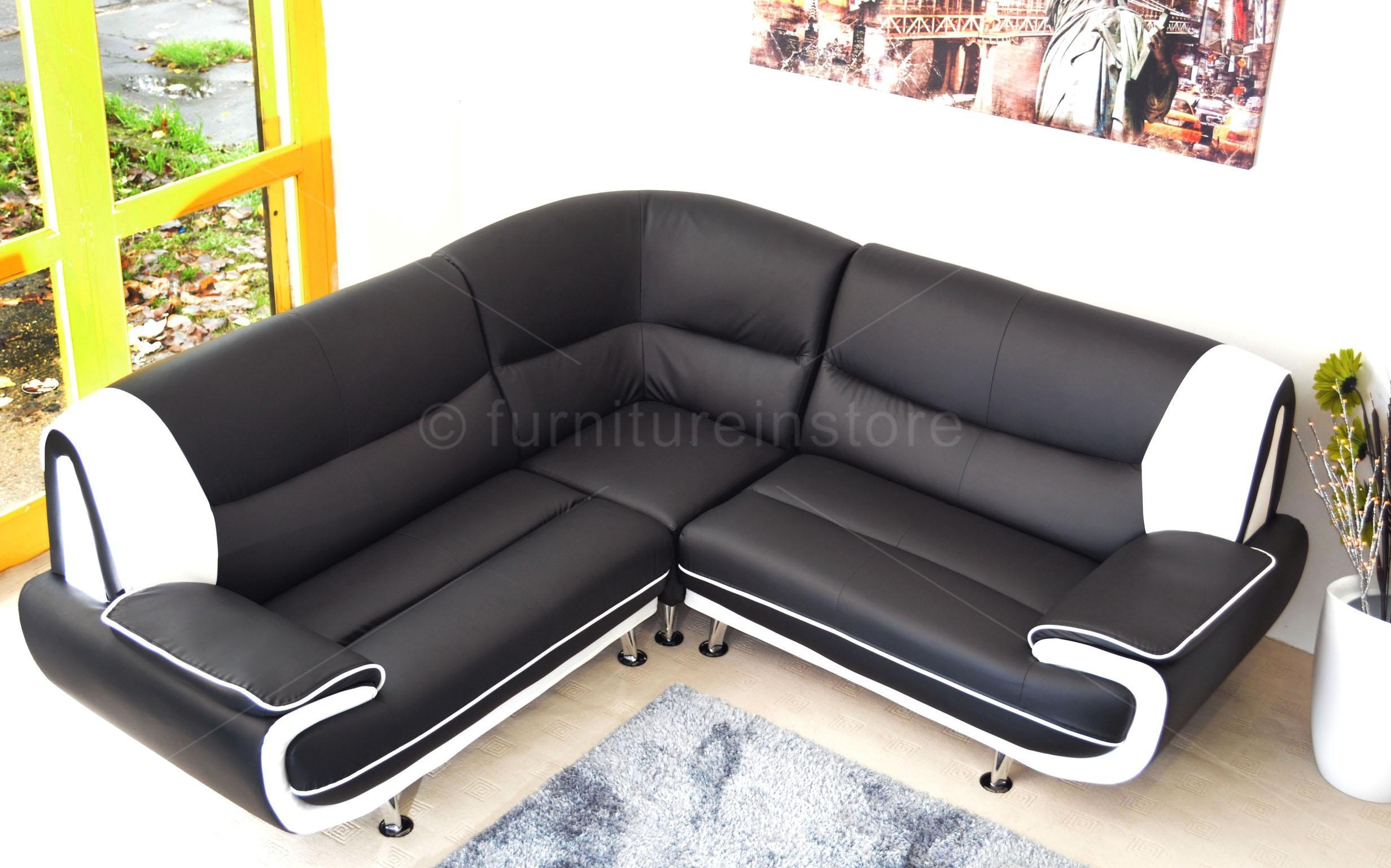 22 choices of large black leather corner sofas sofa ideas for Black corner sofa