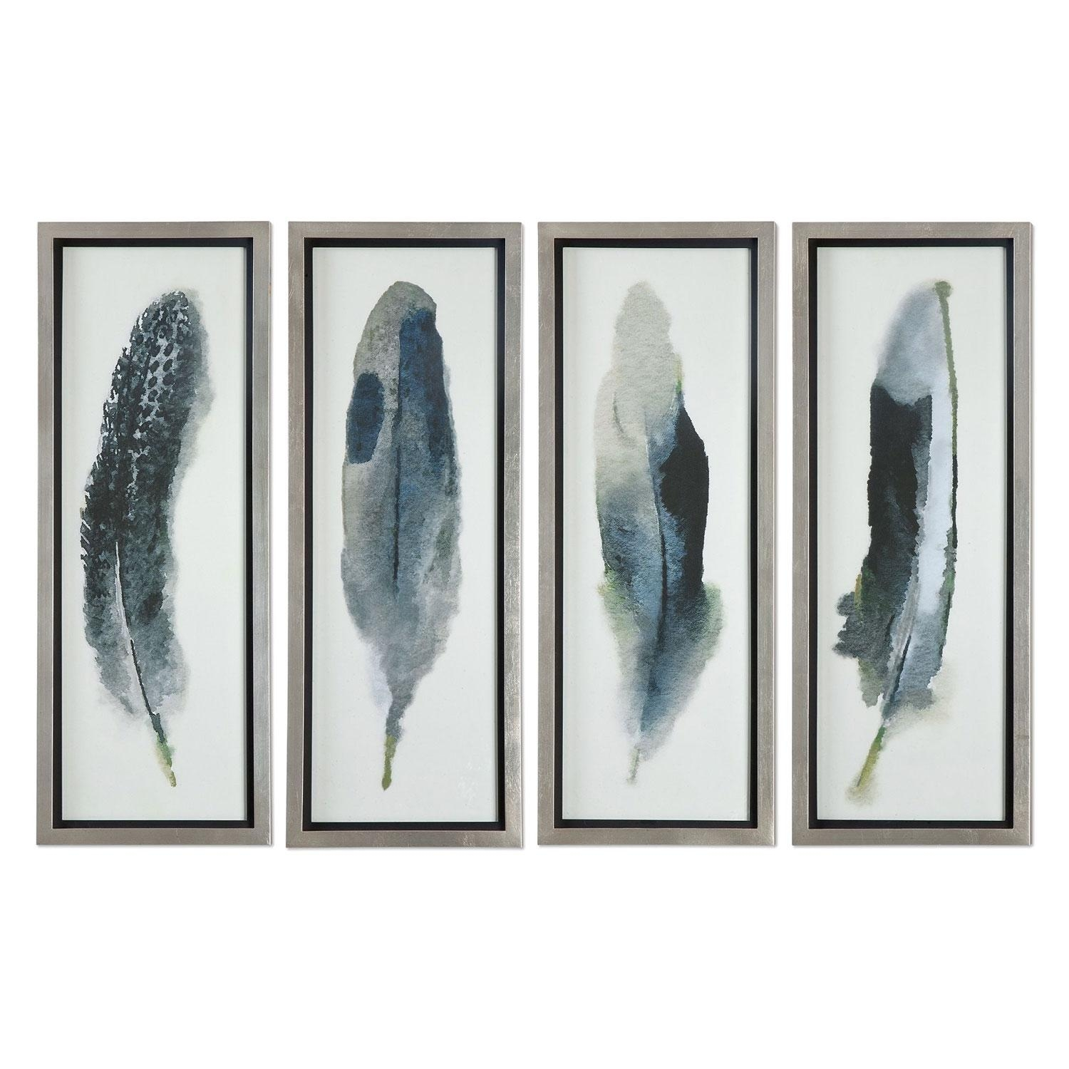 Feathered Beautygrace Feyock: 14 X 38 Inch Wall Art, Set Of With Regard To Wall Art Sets Of  (Image 6 of 20)