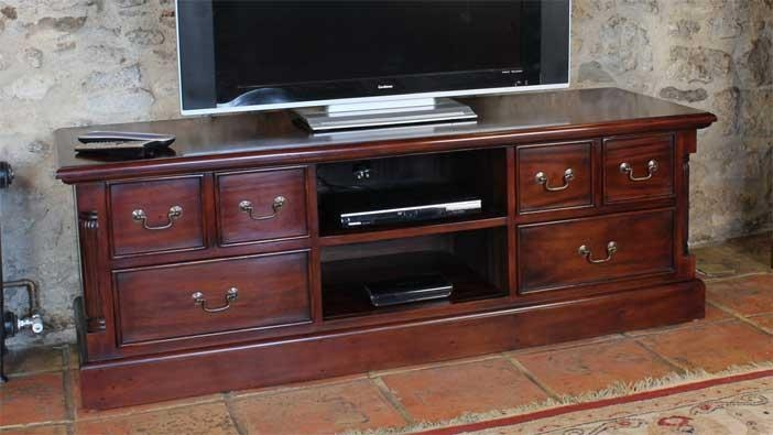 Featured Product – La Roque Mahogany Widescreen Tv Cabinet  Wfs Blog Regarding Most Popular Mahogany Tv Cabinets (Image 13 of 20)