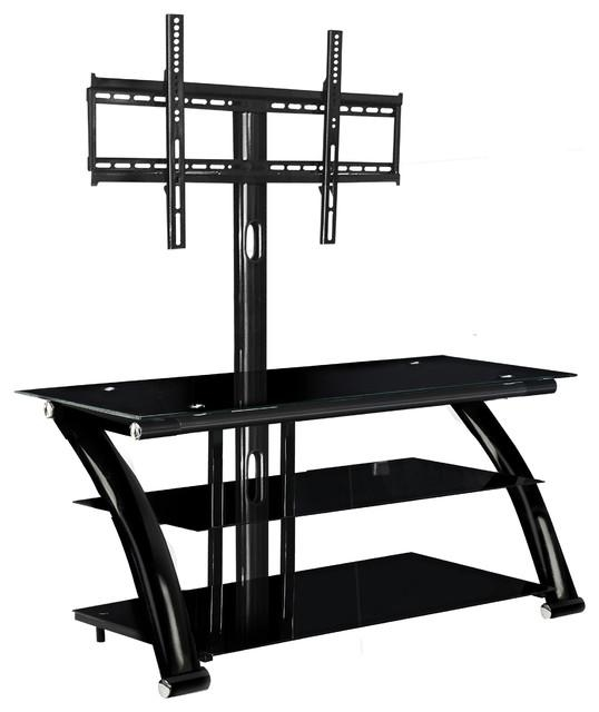 Features Of A Glass Tv Stand With Mount – Furniture Depot Within Newest Tv Stand With Mount (Image 7 of 20)