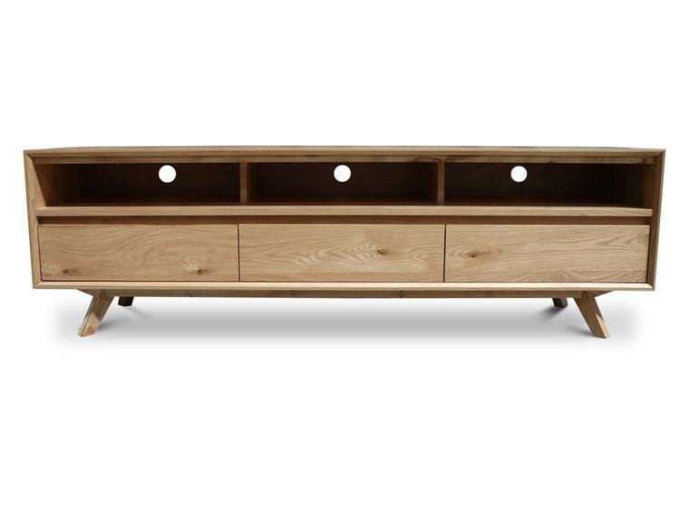 Felix Retro Scandinavian Oak 1800 Lowline Tv Entertainment Unit Intended For Latest Cheap Lowline Tv Units (Image 16 of 20)