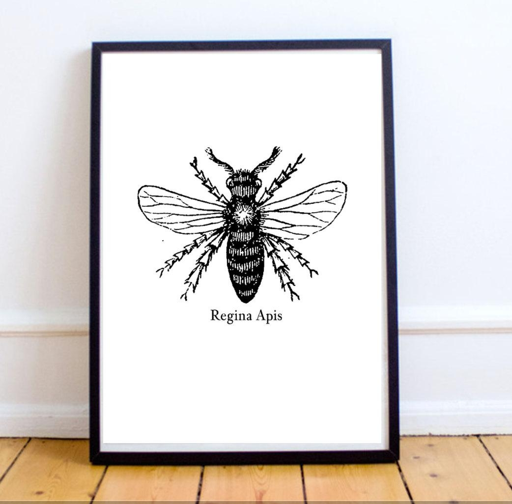 Feminist Wall Art Print: Queen Bee Wall Art Print With Regard To Feminist Wall Art (View 6 of 20)