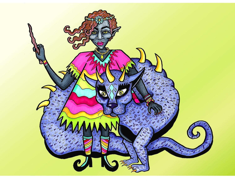 Feminist Witch Art Print Magic Wall Art Tumblr Art Prints Pertaining To Feminist Wall Art (View 14 of 20)