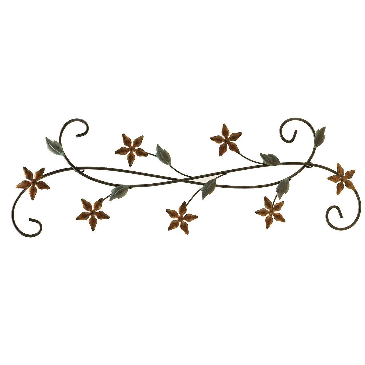Fetco Home Decor Katelyn Floral Scroll Wall Art L Icn Trading Regarding Fetco Home Decor Wall Art (View 7 of 20)