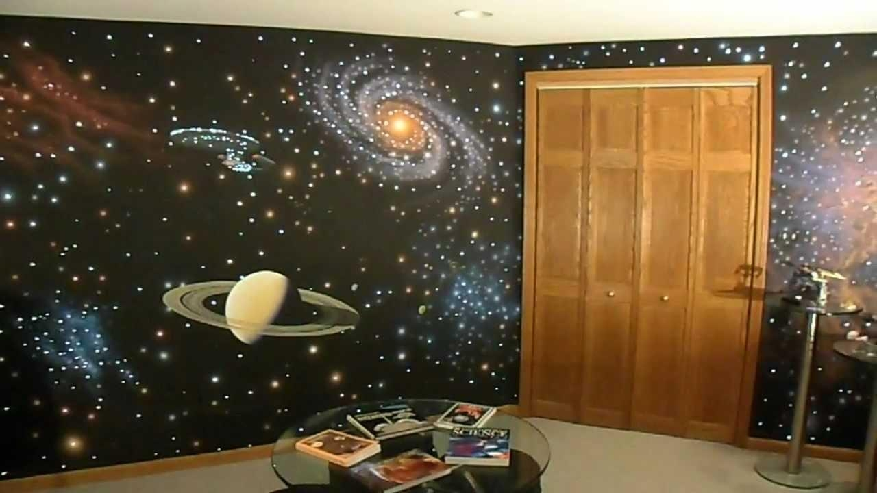 Fiber Optics + Star Trek Wall – Youtube Intended For Fiber Optic Wall Art (View 6 of 20)