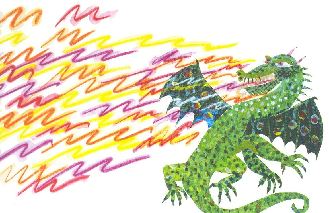 Fiery Dragon Postcard | The Eric Carle Museum Of Picture Book Art Pertaining To Eric Carle Wall Art (View 14 of 20)