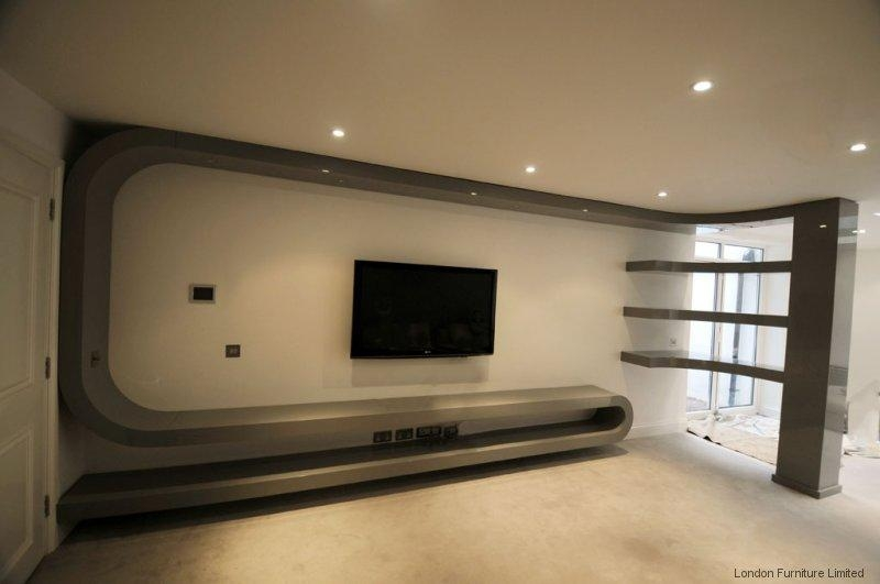 Fitted Living Room Furniture London | Bespoke Tv Unit Inside Latest Bespoke Tv Cabinets (Image 10 of 20)
