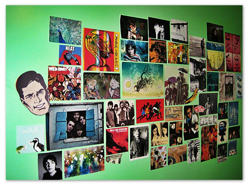 Five Easy Ways To Add Sparkle To White Walls | Sparkle On And Wear Pertaining To Album Cover Wall Art (View 9 of 20)