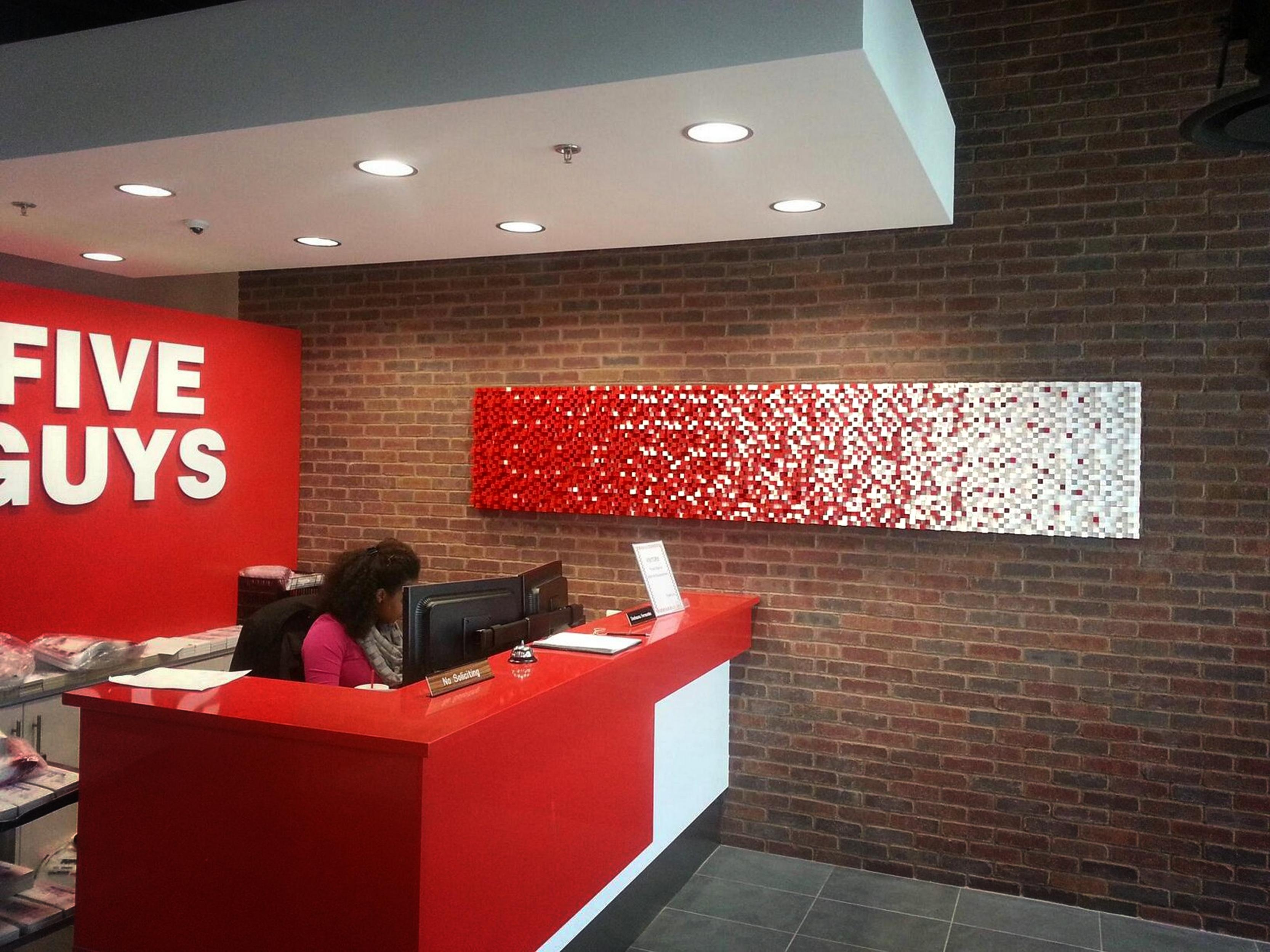 Five Guys Fry Wall Panel – Historic Timber And Plank Pertaining To Wall Art For Guys (View 13 of 20)