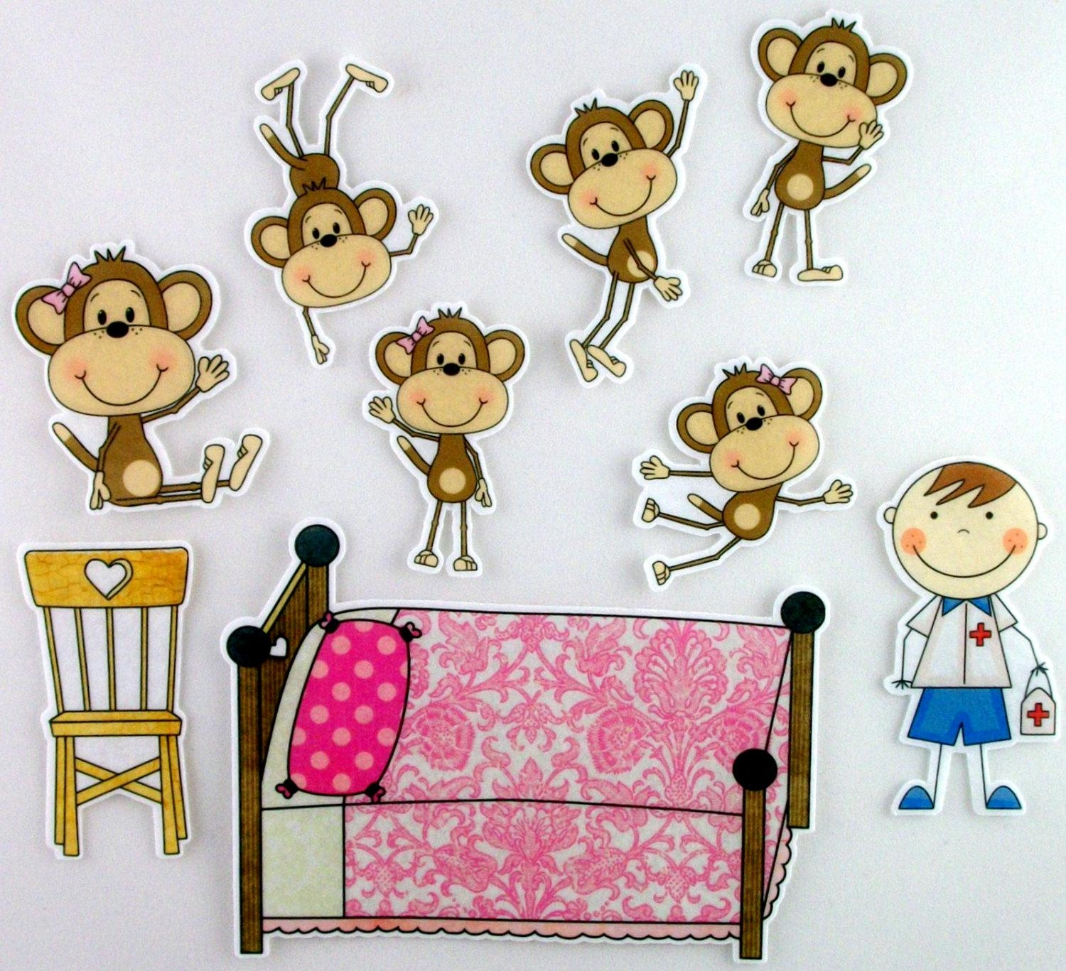 Five Little Monkeys Clipart (51+) Within No More Monkeys Jumping On The Bed Wall Art (Image 6 of 20)