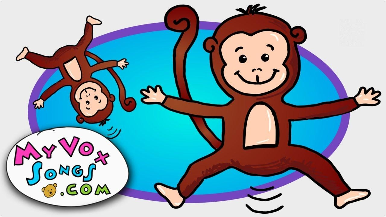 Five Little Monkeys Jumping On The Bed – Nursery Rhymes Regarding No More Monkeys Jumping On The Bed Wall Art (View 8 of 20)
