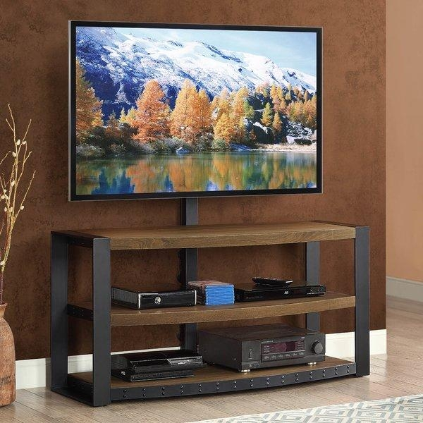 Flat Panel Mount Tv Stands You'll Love   Wayfair For Recent Wall Mounted Tv Stand With Shelves (Image 10 of 20)