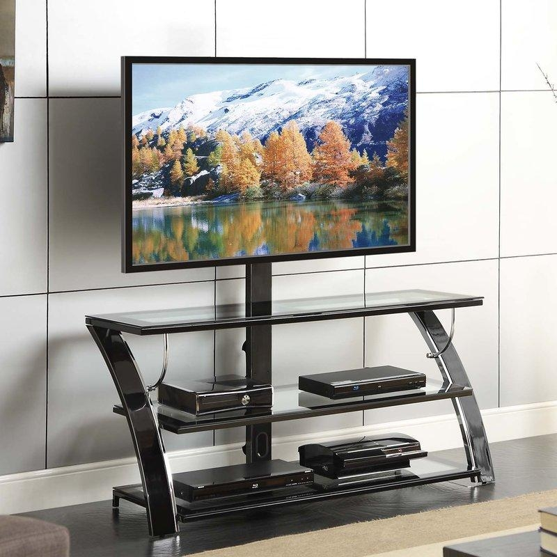 Flat Panel Mount Tv Stands You'll Love | Wayfair Inside Recent Tv Stand With Mount (Image 8 of 20)