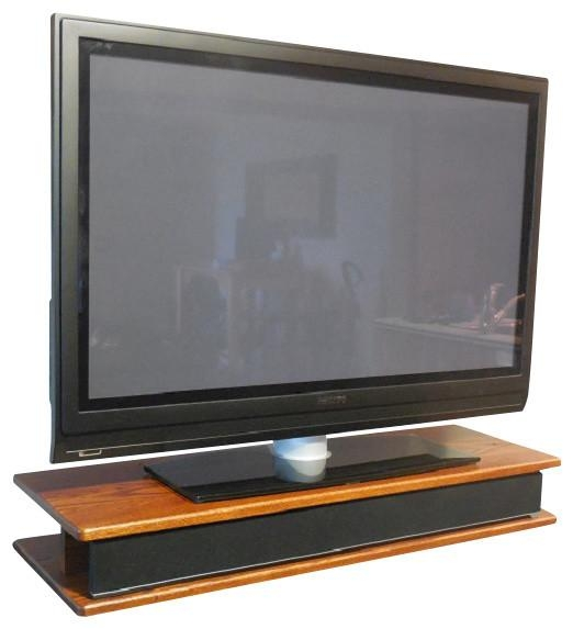 Flat Screen Oak Tv Riser For Sound Bar – Traditional With Newest Tv Riser Stand (Image 3 of 20)