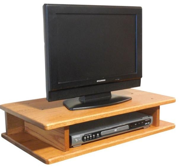 Flat Screen Solid Oak Tv Riser – Traditional – Entertainment Intended For 2017 Oak Tv Stands For Flat Screens (Image 5 of 20)