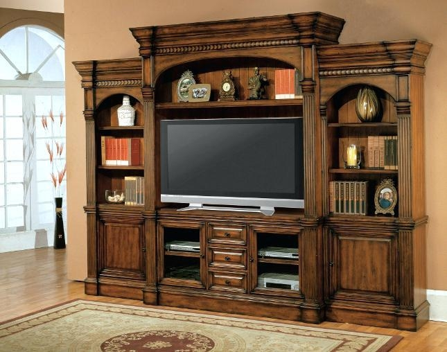 Flat Screen Tv Cabinets With Pocket Doors Tv Armoire With Pocket Regarding Most Recent Corner Tv Cabinets For Flat Screen (View 7 of 20)