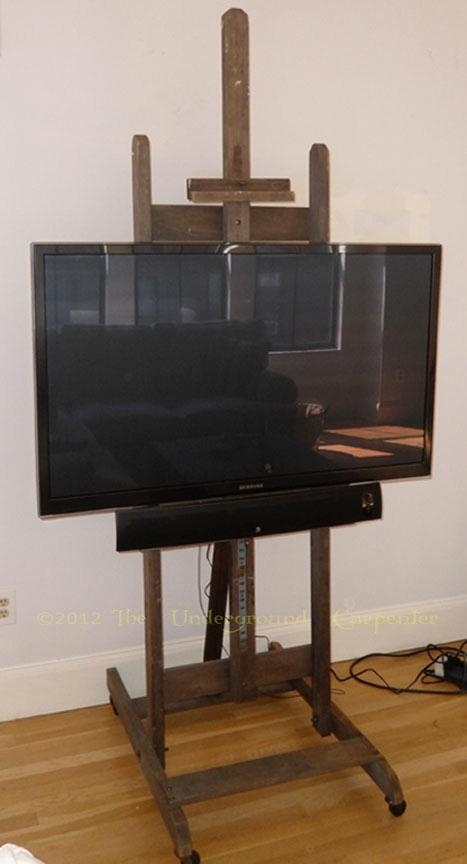 Featured Image of Easel Tv Stands For Flat Screens