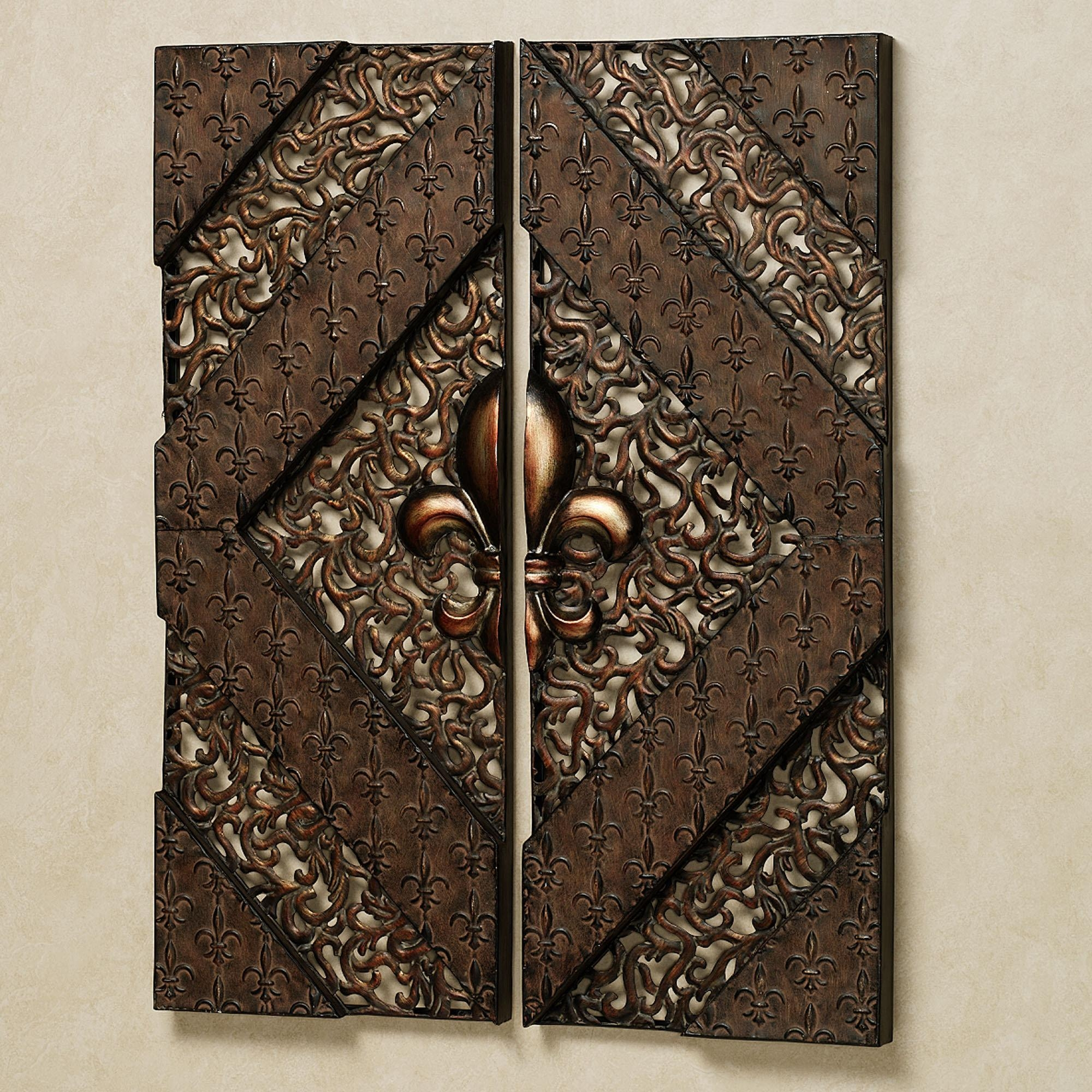 Fleur De Lis Metal Wall Decor Wood : Fleur De Lis Metal Wall Decor  Throughout Wood