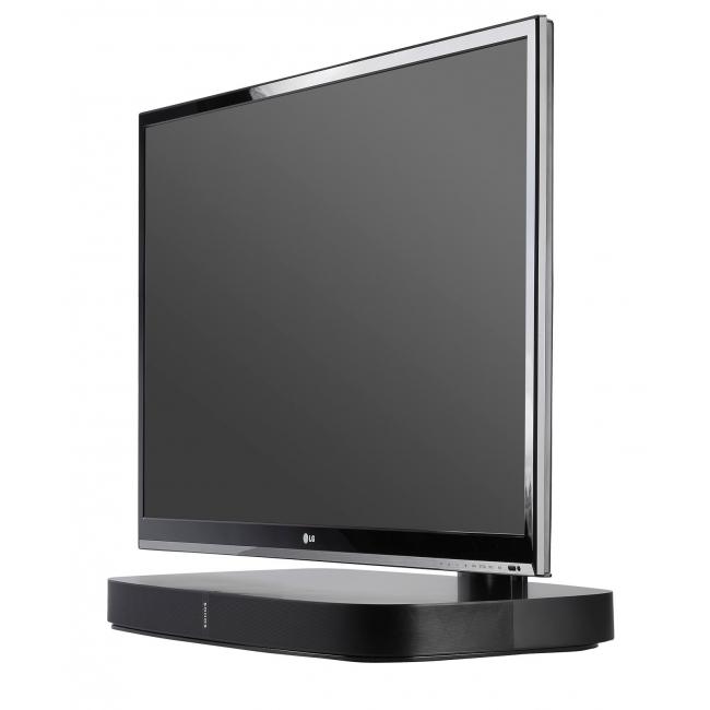 Flexson Flxpbtvst1011 Adjustable Tv Stand For Sonos Playbase Home In Best And Newest Sonos Tv Stands (Image 7 of 20)